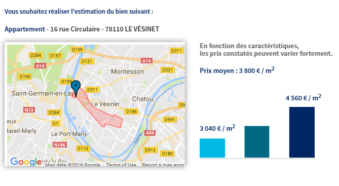 estimation gratuite sur internet